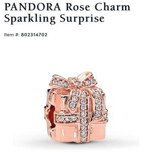 PANDORA rose gold charm sparkling surprise